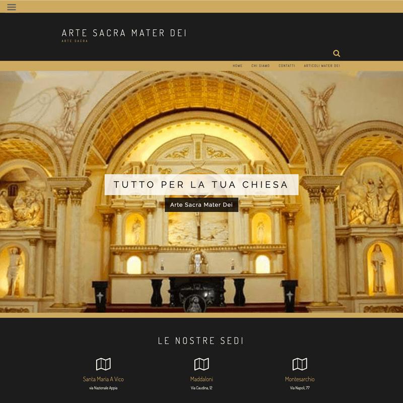 sito web - arte sacra mater dei