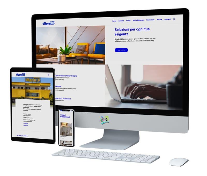 Sito web Oropallo Mobili